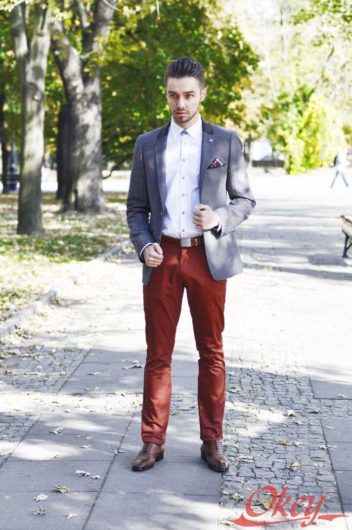 1890045cc7235 Spodnie męskie   Salon Mody Męskiej Okey
