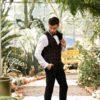 czarny garnitur smokingowy i kamizelka w kratę (4)